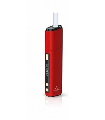 (Red) LAMBDA CC OLED HD Display Heat Not Burn Tobacco Heating Device, Compatible with All IQOS Heatsticks